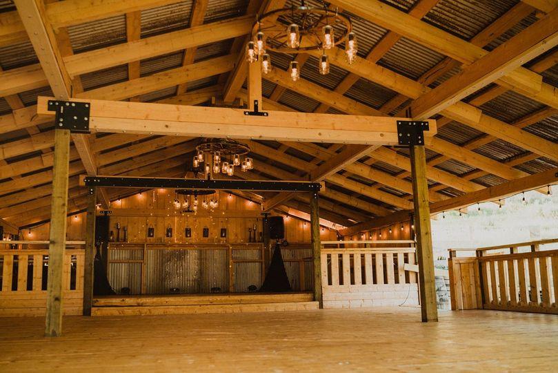 Pavilion set up for dancing