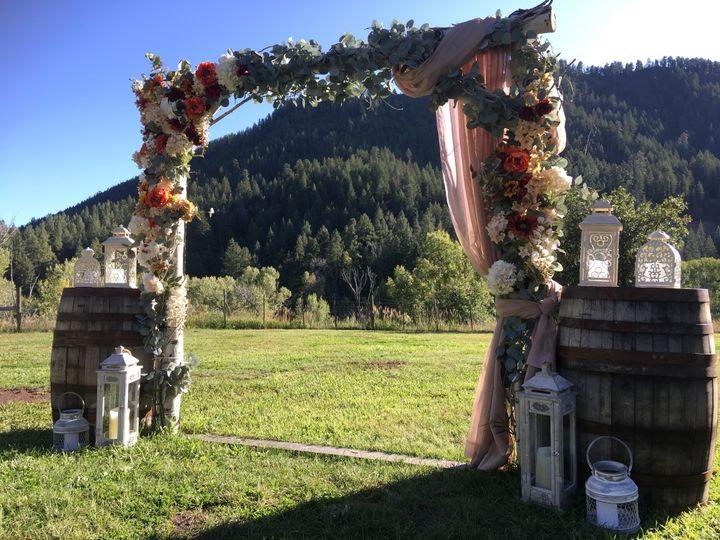 Aspen arch in fall colors