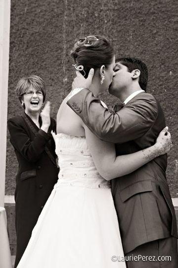 Hari and Amanda Patel's Kiss