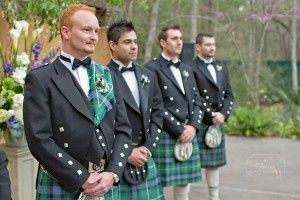Andrew and his Groomsmen at their out door wedding at Chateau Polenz
