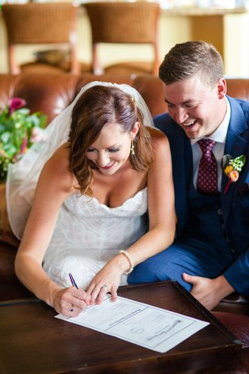Signed, sealed and delivered. Photo by Ashley Kidder Photography.