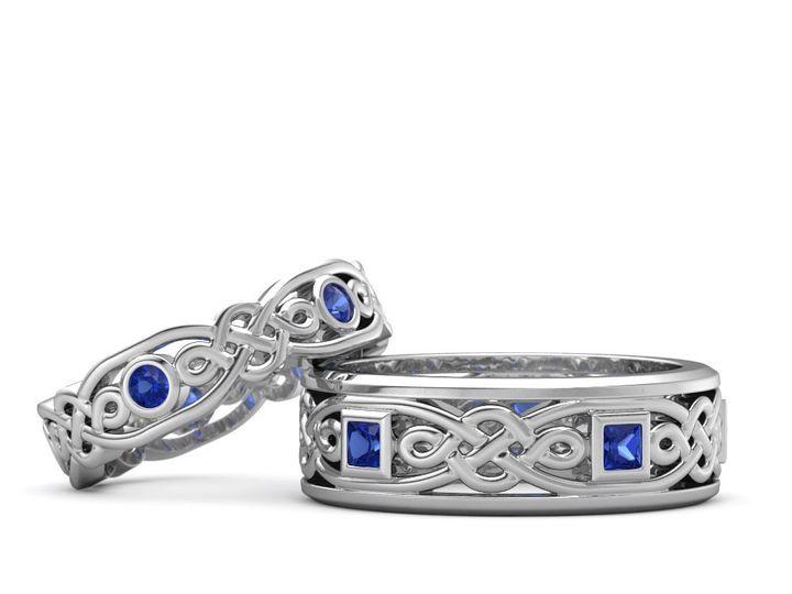 Tmx 1453318671112 Custom Wedding Rings Celtic Cut Out Issaquah wedding jewelry