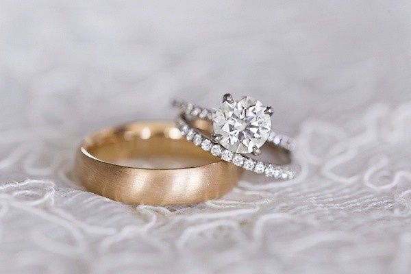 Tmx 1453318741182 Custom Halo And Gold Issaquah wedding jewelry