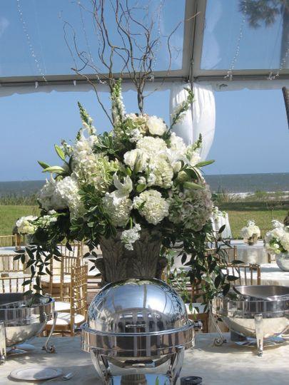 Sea Island GA ocean front wedding tent reception