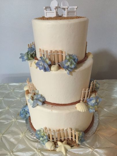 Wedding cake with fences
