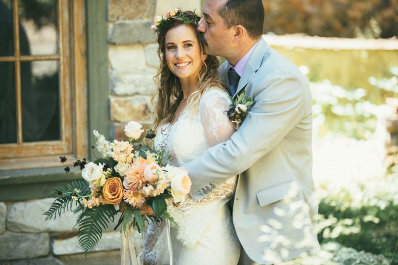 A Sundance Mountain Resort wedding fit for a faerie queen. Photos by Bright Bird Photo.