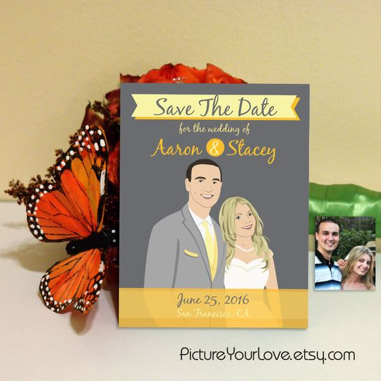 Picture Your Love specializes in custom cartoon portraits for weddings! Each couple will be...