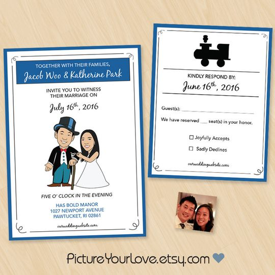 Picture your love specializes in cute cartoon portraits for couples and wedding stationery!  These...