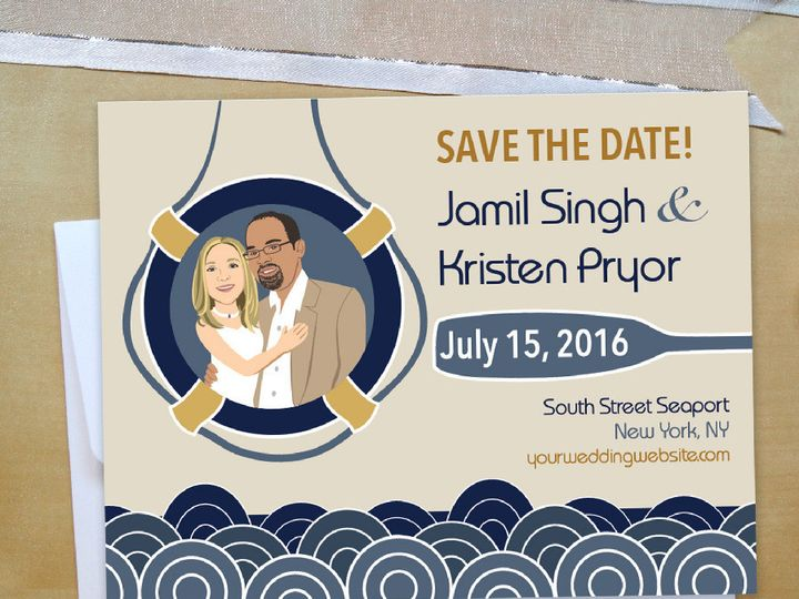 Tmx 1423707989089 Nautical Wedding Marketing Instagram 01 Forest Hills wedding invitation