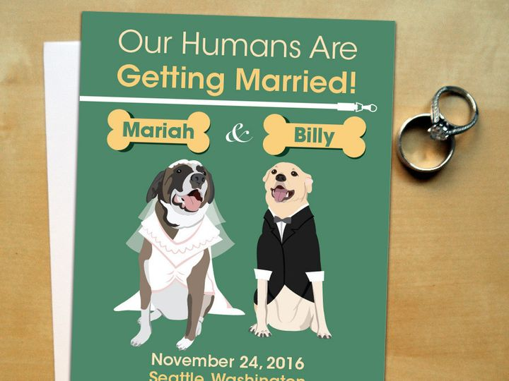 Tmx 1423708003262 Pets Save The Date Instagram03 01 Forest Hills wedding invitation