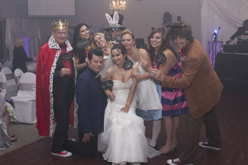The couple with guests