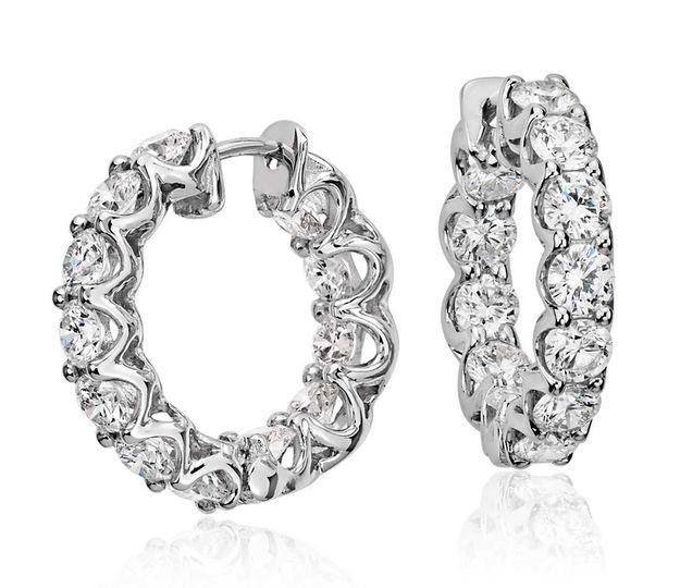 diamond hoop earrings 3 00cts