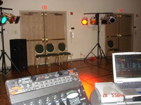 Setting up for a school dance