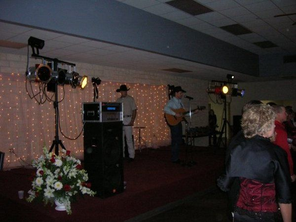 Wedding reception with a live singer we provided sound for.