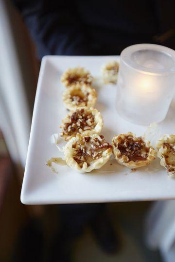 Pecan & brie tarlets