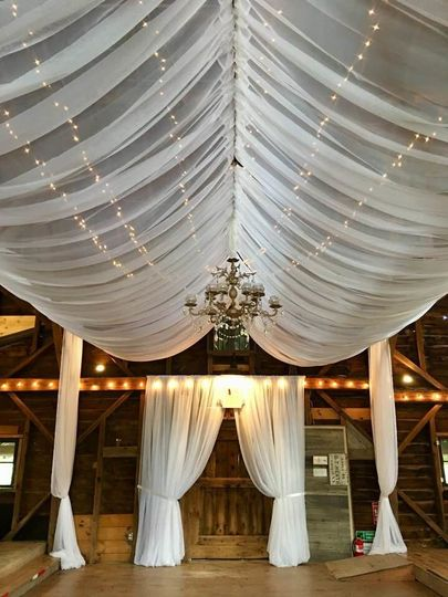 Venue lights and drapes