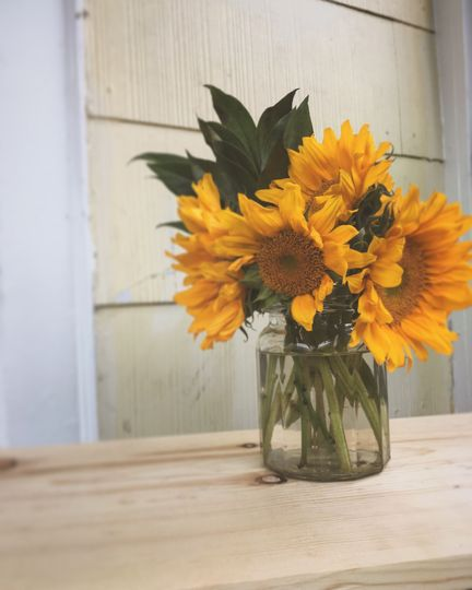 Simple, rustic and sweet sunflowers
