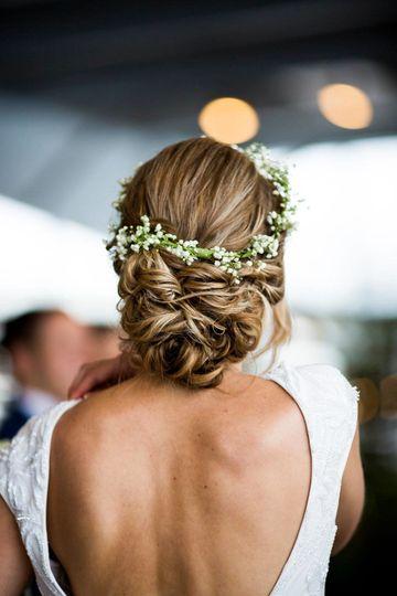 Greek style hair