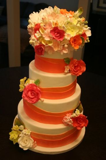 Summer Colors Wedding Cake