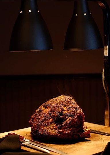 Carved angus roast