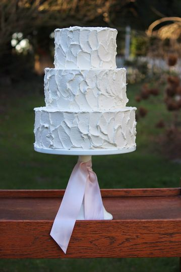 3-tier cake with rough icing