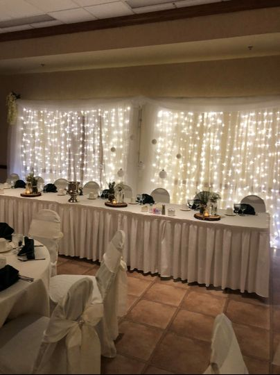Headtable with Backdrop