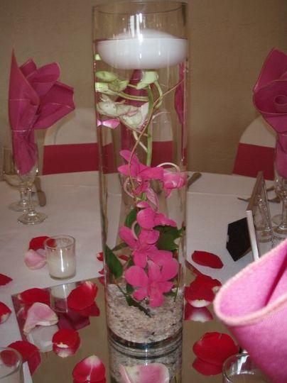 Fiesta Flowers, Plants & Gifts  S & A Wedding: Orchid Centerpiece