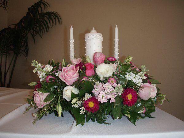 Fiesta Flowers, Plants & Gifts A & S Wedding Unity Candle Arrangement