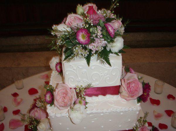 Fiesta Flowers, Plants & Gifts A & S Wedding Cake Topper