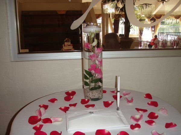 Fiesta Flowers, Plants & Gifts A & S Wedding Guest Book Table
