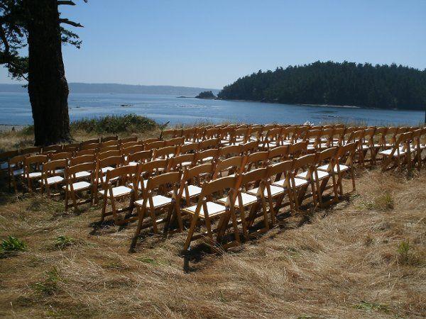 Cliffside ceremony set up