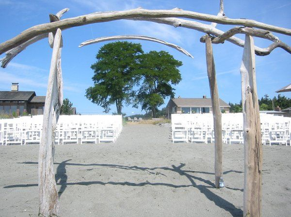 Whidbey Party Girls beach ceremony