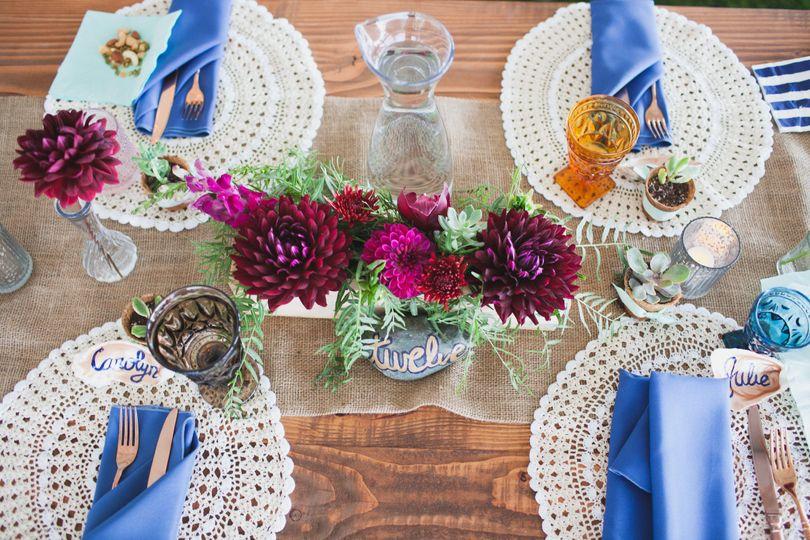 boho table setting