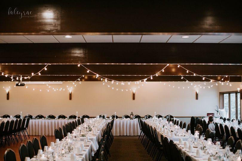 Banquet room setup