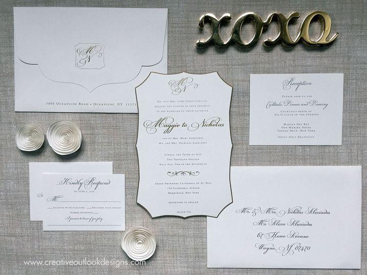 Tmx 1516035435 8c983f715f862ed1 1516035433 3bcc4a1fc9afa820 1516035477633 2 C Ivory Gold Diecu Baldwin wedding invitation