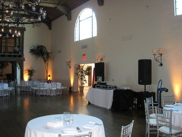 Setting up at Montecito Country Club.