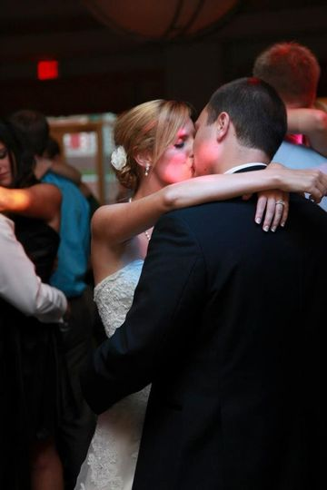 slow dance scene bride and groom