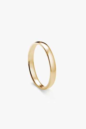 3mm, Classic Round in yellow gold