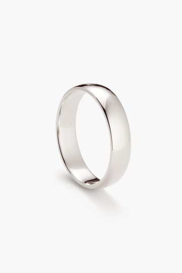 5mm, Classic Round in white gold