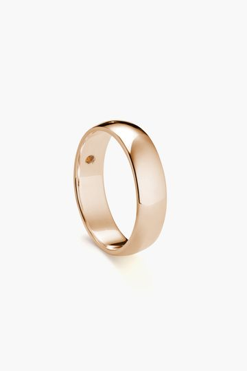 6mm Classic Round in rose gold with optional birthstone.