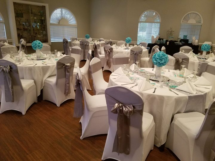 Reception Set Up for 80 guest
