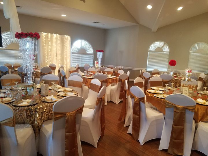 Reception Set Up for 200 Guest