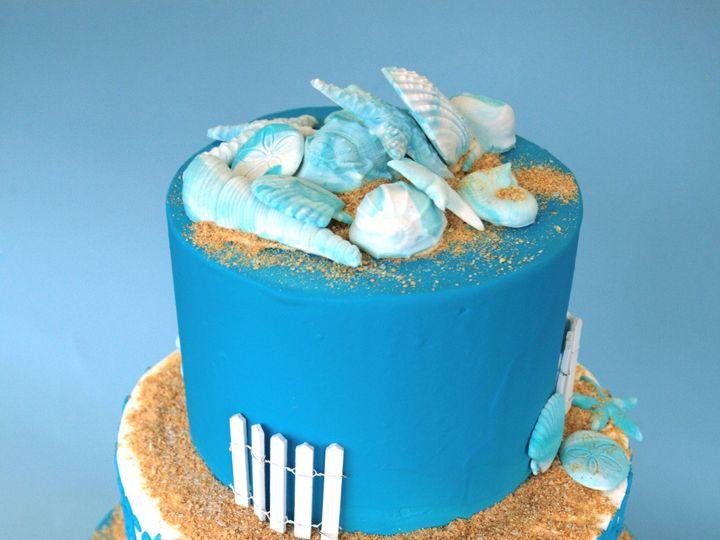 Tmx 1375057782451 Beach Cake Round 2 Newark, Delaware wedding cake
