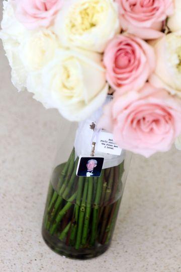 "2 Medium 1"" Bridal Bouquet memorial charms"