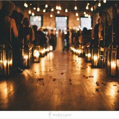 Intimate candlelight ceremony in the Orleans Room