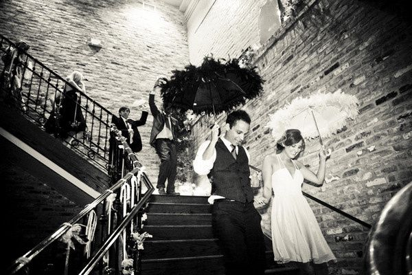 Second Line down the grand staircase in The Chicory