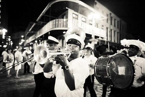 Second line outside The Chicory on S. Peters Street.