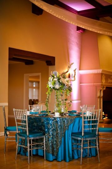 Blue table cloths