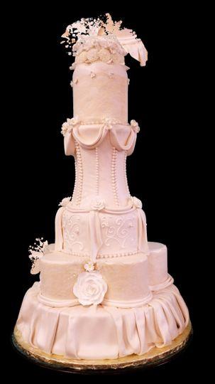 Tall peach cake