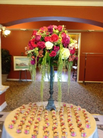 Tall floral decoration